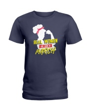 Real Women are Born in March Ladies T-Shirt thumbnail