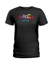 March Born Ladies T-Shirt thumbnail