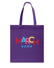 March Born Tote Bag tile
