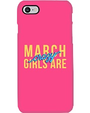 March Girls are Crazy Phone Case tile