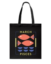 March Pisces Tote Bag thumbnail