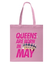 Queens Are Born in May Tote Bag tile
