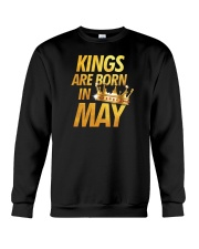 Kings Are Born in May Crewneck Sweatshirt thumbnail