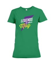 Legends Are Born in May Premium Fit Ladies Tee thumbnail