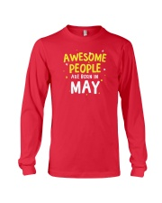 Awesome People Are Born In May Long Sleeve Tee tile