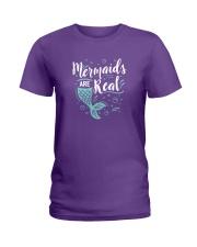 Mermaids Are Real Ladies T-Shirt thumbnail