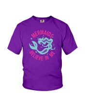 Mermaids Believe In Me Youth T-Shirt thumbnail