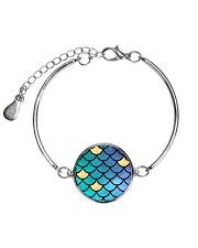 Mermaid Scales Metallic Circle Bracelet thumbnail