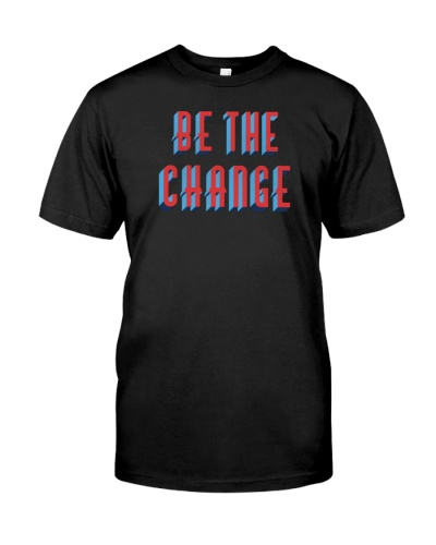 MLK Day Be The Change Punched Letters