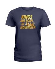 Kings Are Born in November Ladies T-Shirt thumbnail