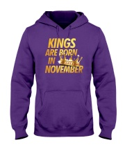 Kings Are Born in November Hooded Sweatshirt thumbnail