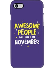 Awesome People Are Born In November Phone Case thumbnail