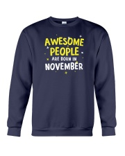 Awesome People Are Born In November Crewneck Sweatshirt thumbnail