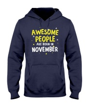 Awesome People Are Born In November Hooded Sweatshirt thumbnail