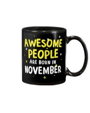Awesome People Are Born In November Mug front