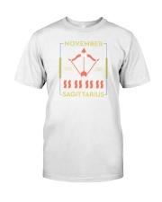 November Sagittarius Classic T-Shirt front