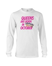Queens Are Born in October Long Sleeve Tee thumbnail