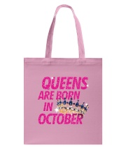 Queens Are Born in October Tote Bag thumbnail
