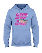 Queens Are Born in October Hooded Sweatshirt thumbnail
