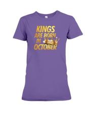 Kings Are Born in October Premium Fit Ladies Tee thumbnail