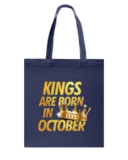 Kings Are Born in October Tote Bag thumbnail