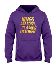 Kings Are Born in October Hooded Sweatshirt thumbnail