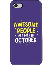 Awesome People Are Born In October Phone Case thumbnail