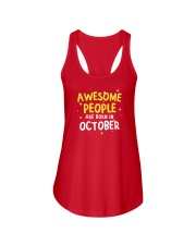 Awesome People Are Born In October Ladies Flowy Tank thumbnail