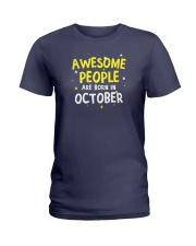 Awesome People Are Born In October Ladies T-Shirt thumbnail