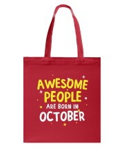 Awesome People Are Born In October Tote Bag thumbnail