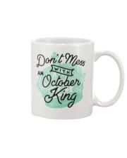 Don't Mess With an October King Mug thumbnail