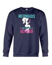 Mermaids Are Born in October Crewneck Sweatshirt thumbnail