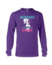 Mermaids Are Born in October Long Sleeve Tee thumbnail