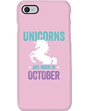 Unicorns Are Born in October Phone Case thumbnail