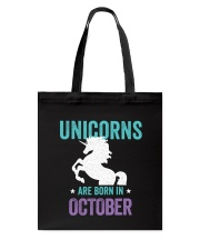 Unicorns Are Born in October Tote Bag thumbnail
