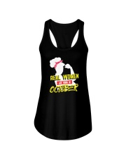 Real Women are Born in October Ladies Flowy Tank thumbnail