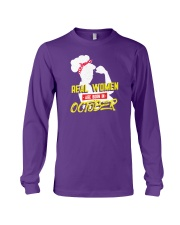 Real Women are Born in October Long Sleeve Tee thumbnail