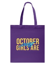 October Girls are Crazy Tote Bag thumbnail