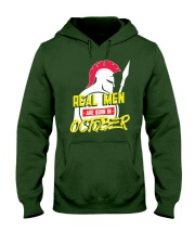 Real Men are Born in October Hooded Sweatshirt thumbnail