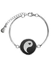 Yin Yang 1 of 2 Metallic Circle Bracelet thumbnail