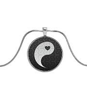 Yin Yang 1 of 2 Metallic Circle Necklace thumbnail