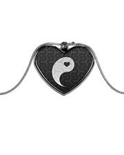 Yin Yang 1 of 2 Metallic Heart Necklace thumbnail