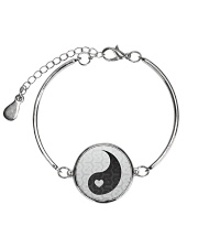 Yin Yang 2 of 2 Metallic Circle Bracelet thumbnail