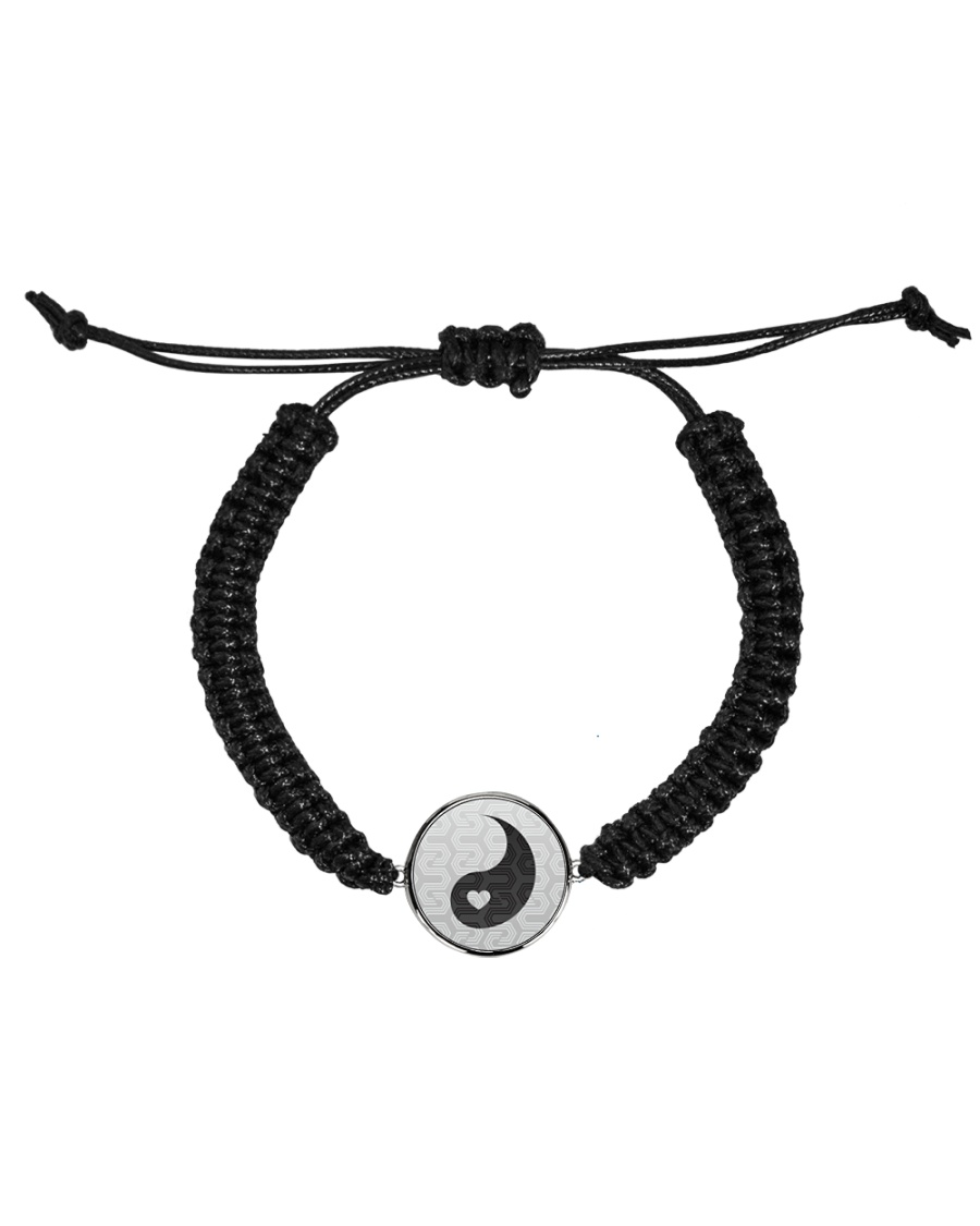 Yin Yang 2 of 2 Cord Circle Bracelet