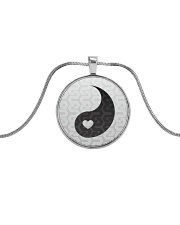 Yin Yang 2 of 2 Metallic Circle Necklace thumbnail