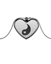 Yin Yang 2 of 2 Metallic Heart Necklace thumbnail