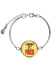 I Couldn't If I Fried Metallic Circle Bracelet thumbnail