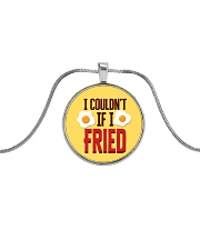 I Couldn't If I Fried Metallic Circle Necklace thumbnail