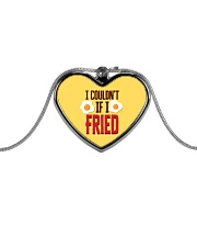 I Couldn't If I Fried Metallic Heart Necklace thumbnail