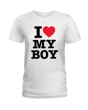 I Love My Boy Ladies T-Shirt tile